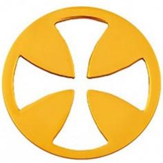 Médaille Mini Croix égale 10 mm (or jaune 750°)
