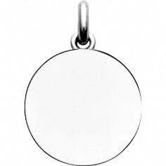 Médaille laïque unie (ronde) (or blanc 750°)