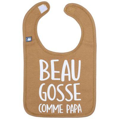 Bavoir à velcro Beau gosse comme papa camel  par BB & Co