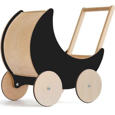 Landau de poupée en bois noir ardoise  par ooh noo