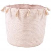 Panier de rangement Héloïse en coton rose (35 x 35 cm) - Nattiot