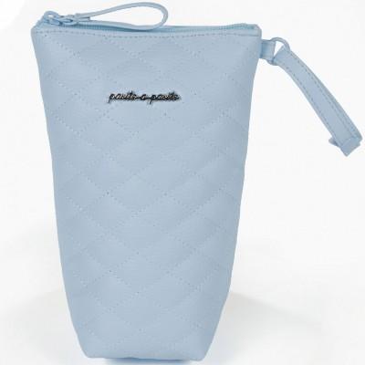 Porte biberon Ines matelassé bleu  par Pasito a pasito