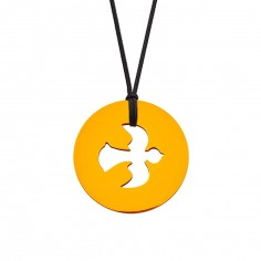 Collier cordon médaille Signes Colombe 16 mm (or jaune 750°)