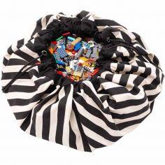 Sac à jouets 2 en 1 Printed Colors Rayures noires