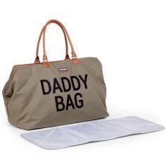 Sac à langer à anses papa Daddy Bag toile kaki