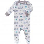 Pyjama léger Eléphant bleu (3-6 mois : 60 à 67 cm) - Fresk
