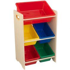 Meuble de rangement Sort It & Store It multicolore (5 bacs)
