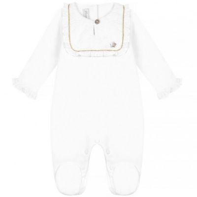 Pyjama léger blanc Délicatesse (1 mois)  par Tartine et Chocolat
