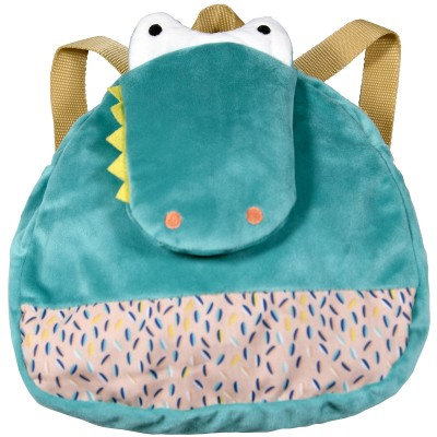 Sac à dos peluche crocodile Jungle Boogie  par Ebulobo
