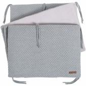 Tour de lit Sun gris et gris argent (pour lit 60 x 120 cm) - Baby's Only