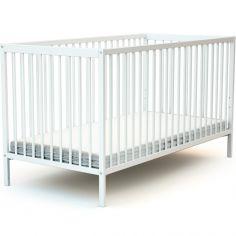 Lit à barreaux en bois de hêtre Essentiel blanc (70 x 140 cm)