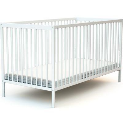 Lit à barreaux en bois de hêtre Essentiel blanc (70 x 140 cm)  par AT4