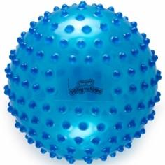Balle tactile transparente bleue