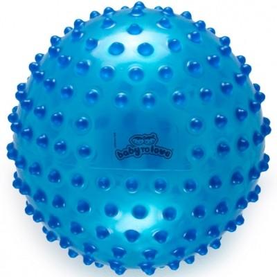 Balle tactile transparente bleue  par BabyToLove