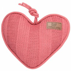 Coussin musical coeur Robust Mix rose framboise (30 x 25 cm)