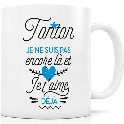Mug Tonton je ne suis pas encore là et Je t'aime déjà