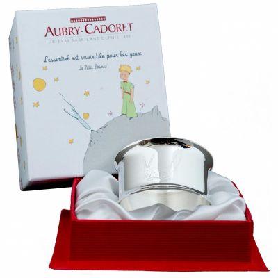 Rond de serviette Petit Prince Renard personnalisable (métal argenté)  par Aubry Cadoret