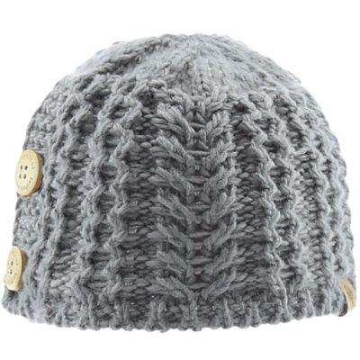 Bonnet en tricot avec boutons gris (0-6 mois)