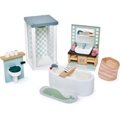 Mobilier pour poupée Salle de bain en bois  par Tender Leaf
