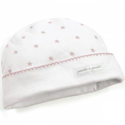 Bonnet de naissance Amelie rose  par Pasito a pasito