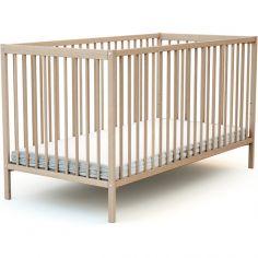 Lit à barreaux en bois de hêtre brut Essentiel (70 x 140 cm)