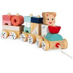 Train de construction Sophie la girafe