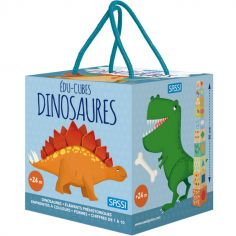 Livre + cubes à empiler Eco-cubes Les dinosaures