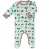 Pyjama léger Animaux de la forêt gris (0-3 mois : 50 à 60 cm) - Fresk