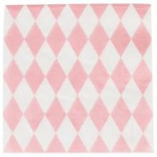 Serviettes en papier losanges roses (20 pièces)  par My Little Day