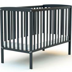 Lit à barreaux en bois de hêtre Confort gris (60 x 120 cm)