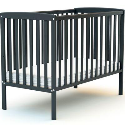 Lit à barreaux en bois de hêtre Confort gris (60 x 120 cm)  par AT4