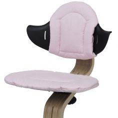Coussin réversible pour chaise haute évolutive NOMI rose poudré et sable