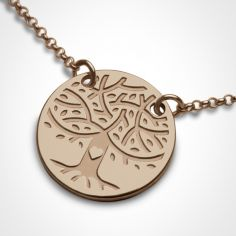 Collier sur chaîne LOVETREE personnalisable (or rose 750°)