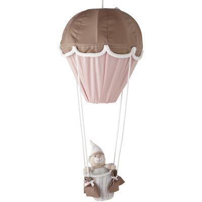 Lampe montgolfière Fany taupe et rose Domiva
