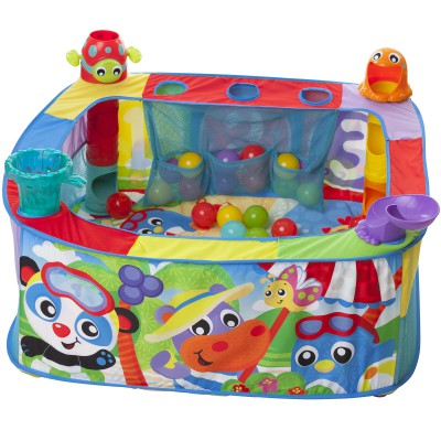 Grand parc balles playgro berceau magique for Piscine a balles bebe