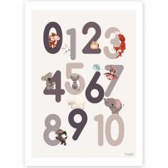 Affiche A4 123 grise