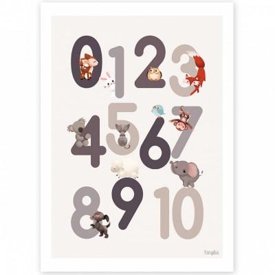 Affiche A4 123 grise  par Kanzilue