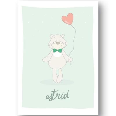 Affiche chat Pistache personnalisable (21 x 29,7 cm)