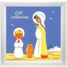 Tableau religieux Ste Joséphine Saint Patron personnalisable (15 x 15 cm)