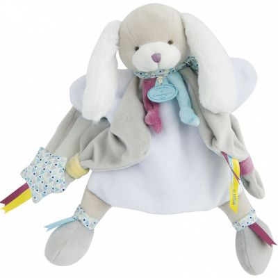 Doudou marionnette Toopi chien gris clair (28 cm)  par Doudou et Compagnie
