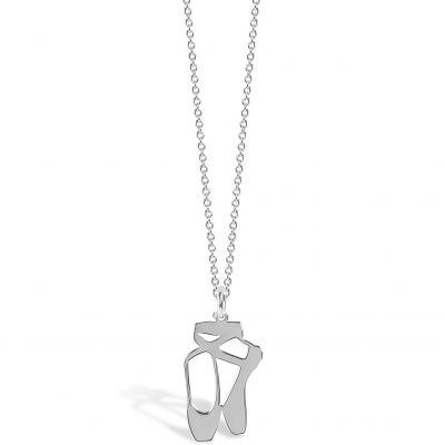Collier chaîne 40 cm pendentif Mini Coquine ballerine 18 mm (argent 925°)  par Coquine