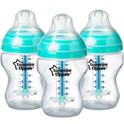 Lot de 3 biberons Anti-colique avancé turquoise (260 ml)  par Tommee Tippee