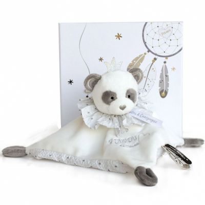 Coffret doudou plat Panda Attrape-rêves  par Doudou et Compagnie