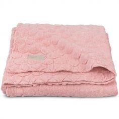 Couverture Fancy knit rose poudré (75 x 100 cm)