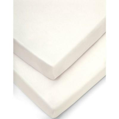 Lot de 2 draps housse de couffin crème (30 x 68 cm)  par Mamas and Papas