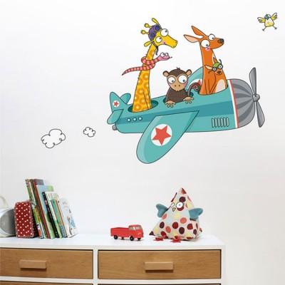 Grand sticker animaux Avion  par Série-Golo