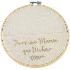 Cercle en lin Tu es une Mamie qui déchire