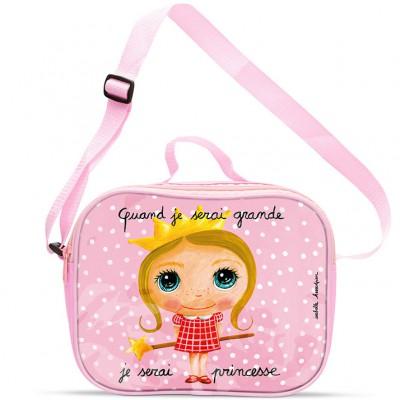 Sac isotherme enfant Quand je serai grande je serai princesse  par Isabelle Kessedjian