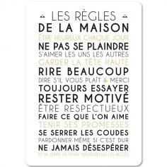 Carte les Règles de la maison (15 x 21 cm)