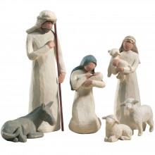 Statuettes La Nativité pour crèche de Noël (8 pièces)  par Willow Tree